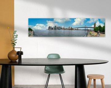 Panorama Brooklyn-Brücke New York von Ivo de Rooij