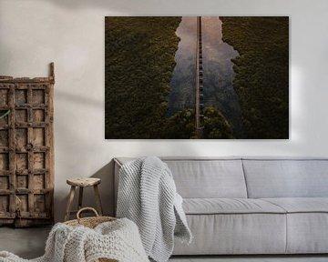 Zonsondergang bij de Moerputten brug in Den Bosch van mooidenbosch