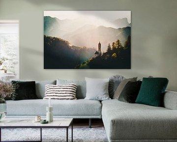 Sonnenuntergang in den Dolomiten von Michael Blankennagel