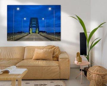 Oude Katerveerbrug over de IJssel bij Zwolle van Jenco van Zalk
