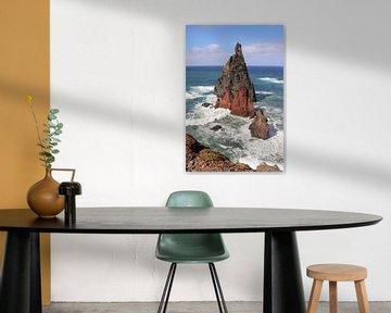 Rotsen in zee op Madeira van Map of Joy