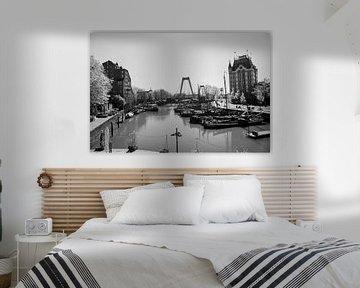 Der alte Hafen von Rotterdam schwarz-weiß von Stefan Bezooijen