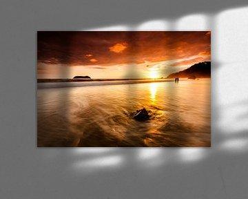 Zonsondergang aan het strand van Costa Rica van Tilo Grellmann | Photography