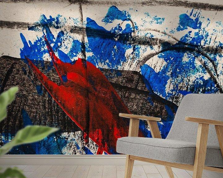 Beispiel fototapete: Rot blauer Walfisch von Klaus Heidecker