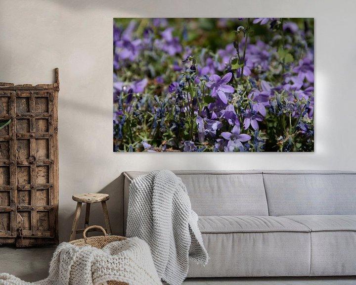 Sfeerimpressie: Paarse bloemen van Simen Crombez
