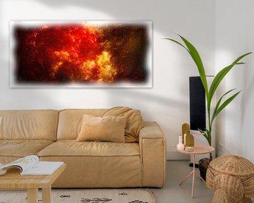 Abstract fantasie nebula van Maurice Dawson