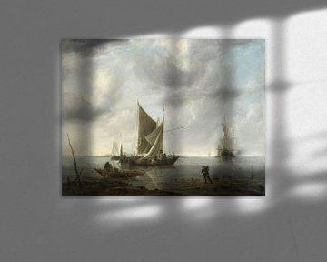 Schiffe vor Anker auf ruhiger See, Jan van de Cappelle