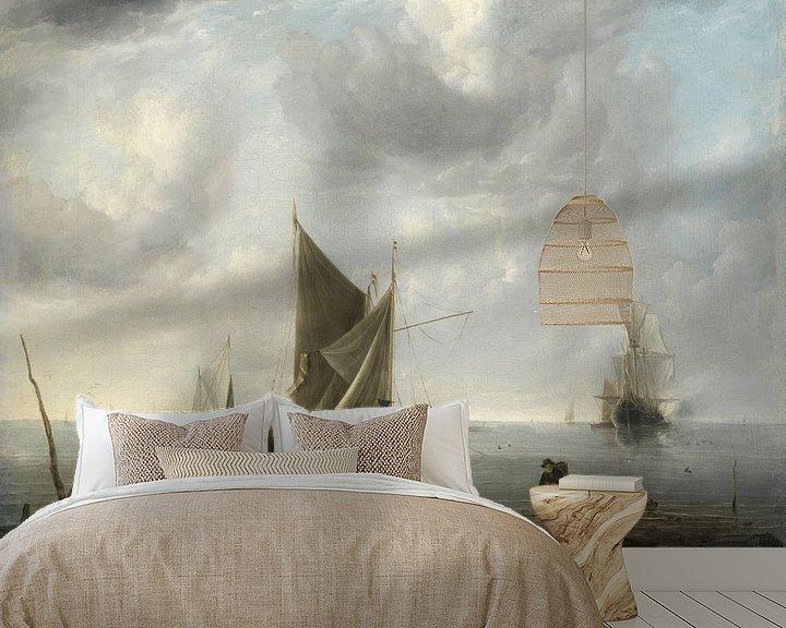 Impression: Des navires à l'ancre sur une mer calme, Jan van de Cappelle