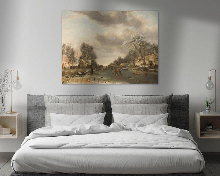 Sfeerimpressie: Wintergezicht, Jan van de Cappelle