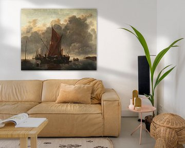 Schiffe auf ruhiger See, Jan van de Cappele