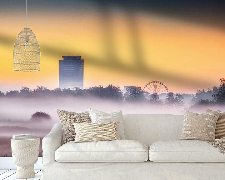Sfeerimpressie behang: De Toren en het reuzenrad van Ruud Peters