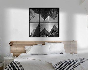 Gebäude (schwarz-weiß) von Bob Crooymans