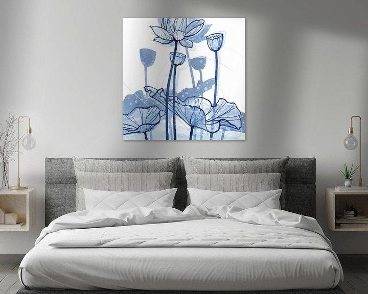 Sfeerimpressie: Lotus Delftsblauw 03 van Ingrid Joustra