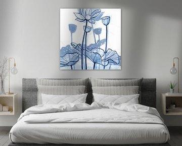 Lotus Delft Blue 03