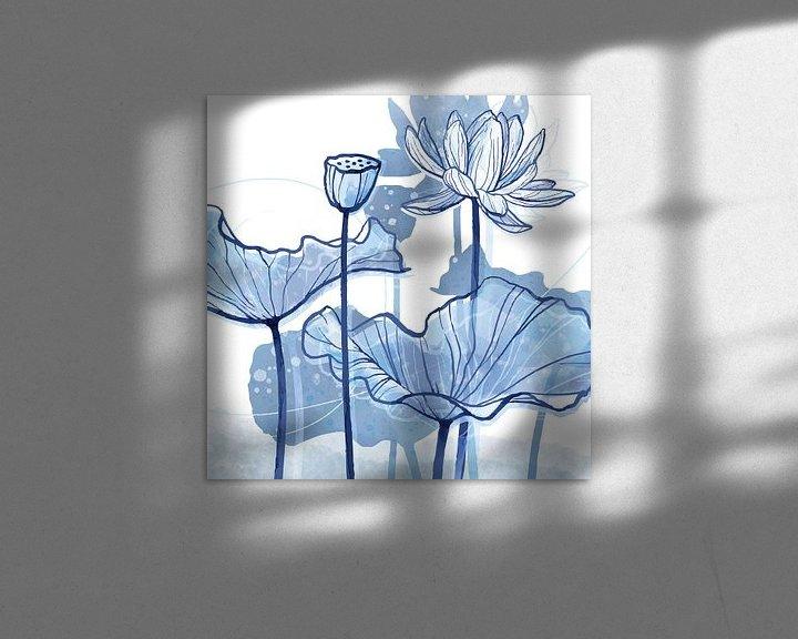 Sfeerimpressie: Lotus Delfstblauw 01 van Ingrid Joustra