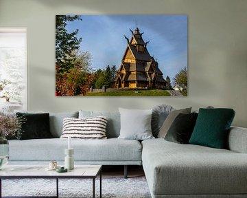 Stabkirche in Minot, North Dakota, USA von Adelheid Smitt