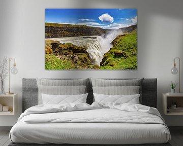 Gullfoss waterval in IJsland van Easycopters