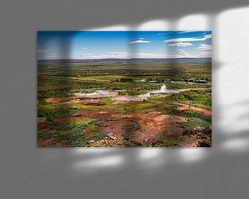 Strokkur panorama van Easycopters