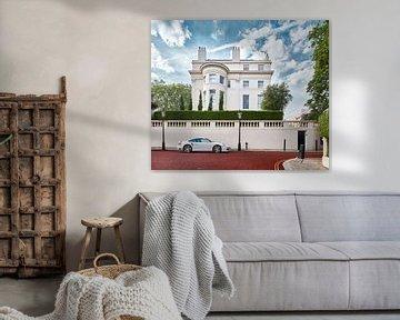 Klassiek contrast - Regent's Park, Londen. van David Bleeker