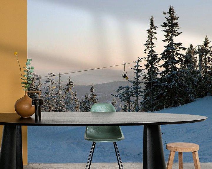 Beispiel fototapete: Skigebied Trysil von Barbara Koppe