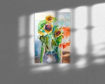 Sonnenblume von Antonie van Gelder Beeldend kunstenaar