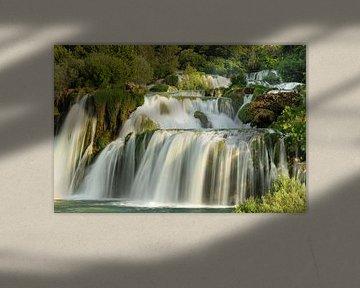 Skradinski Buk waterval, Nationaal Park Krka, Kroatië van Markus Lange