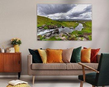 Merkjárfoss waterval in IJsland van Easycopters