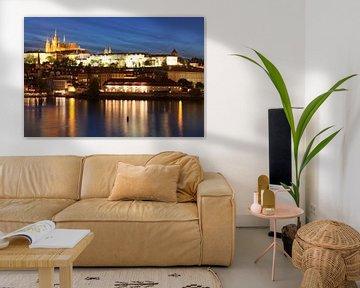 Karelsbrug, Hradcany en St. Vituskathedraal, Praag, van Markus Lange