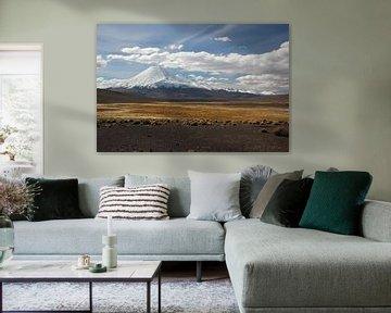 Vulkaan op de Altiplano in Bolivia van A. Hendriks