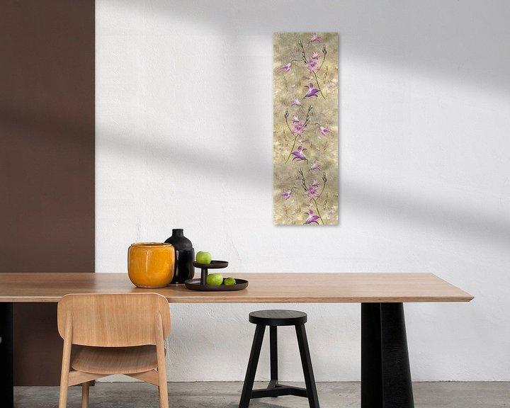 Beispiel: Glockenblume - Collage von Christine Nöhmeier