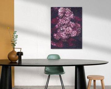 Dunkelrosa Rosen von Marina de Wit