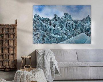 Falljökull gletsjer in Vatnajökull national park van Easycopters