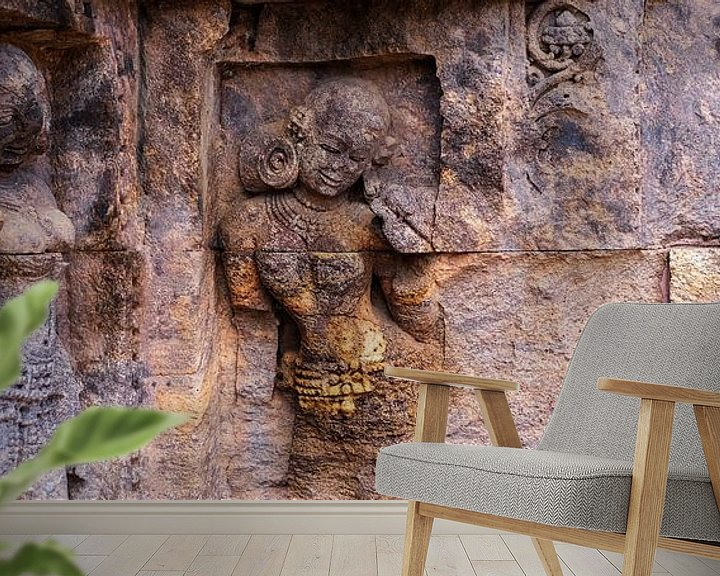 Sfeerimpressie behang: Eeuwenoude danseressen (gezien bij vtwonen) van Affect Fotografie