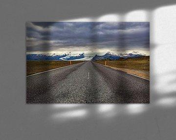 Ringstraße entlang des Vatnajökull von Easycopters