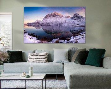 Fjordlandschap in de winter, Noorwegen van Adelheid Smitt