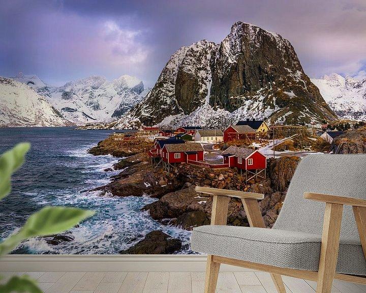 Impression: Hamnøy en hiver, Norvège sur Adelheid Smitt