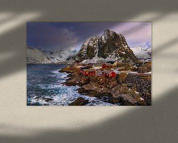 Hamnøy en hiver, Norvège sur Adelheid Smitt