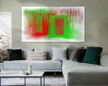 Abstract rot grün von Maurice Dawson