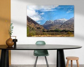 Schilderachtige natuurschoon in Glen Coe, Schotse Hooglanden, Schotland, Verenigd Koninkrijk van Mieneke Andeweg-van Rijn