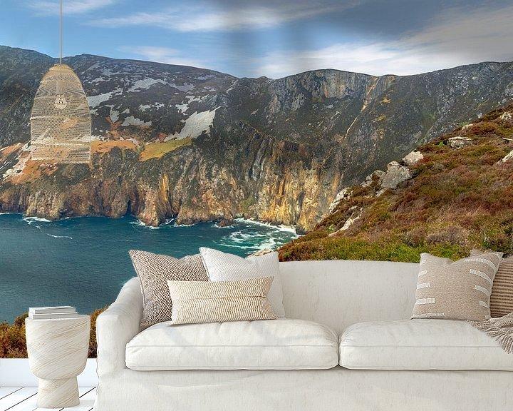 Beispiel fototapete: Die schroffe Schönheit der felsigen Küste von Slieve League , Donegal, Irland von Mieneke Andeweg-van Rijn