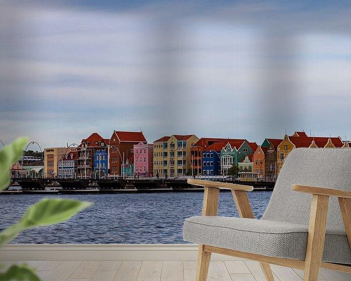 Sfeerimpressie behang: Willemstad, Curaçao van Willemke de Bruin