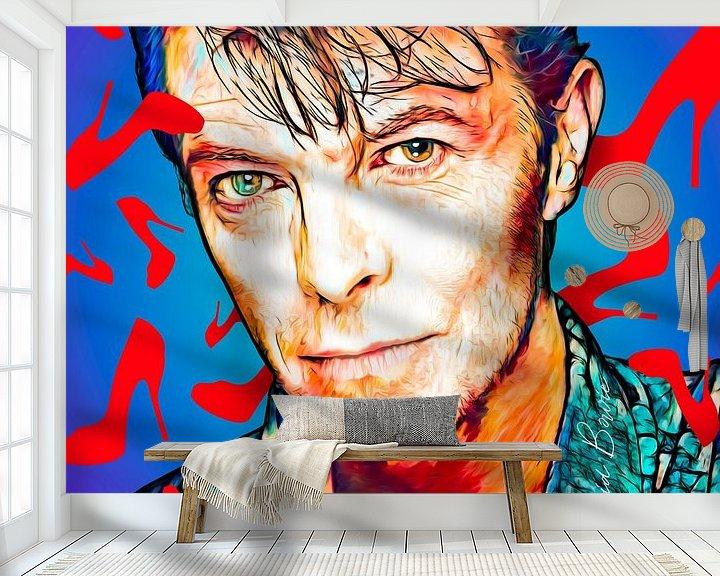 Beispiel fototapete: PopArt Kunstwerk von David Bowie von Martin Melis
