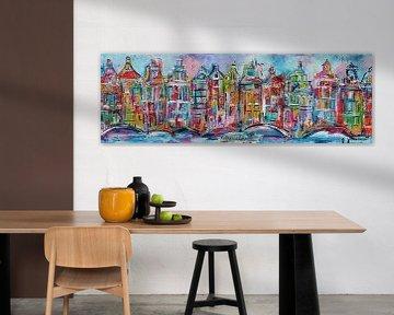 Grachten von Amsterdam von Kunstenares Mir Mirthe Kolkman van der Klip