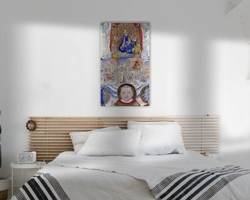 James Ensor. Ikone der Jungfrau Maria mit Porträt
