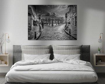 Regen en sneeuw in Parijs van Marcel van Berkel