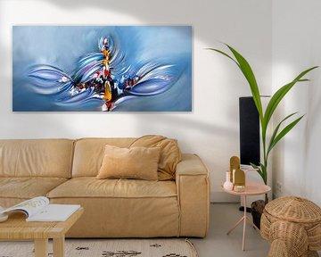 Abstrakt Blau von Gena Theheartofart