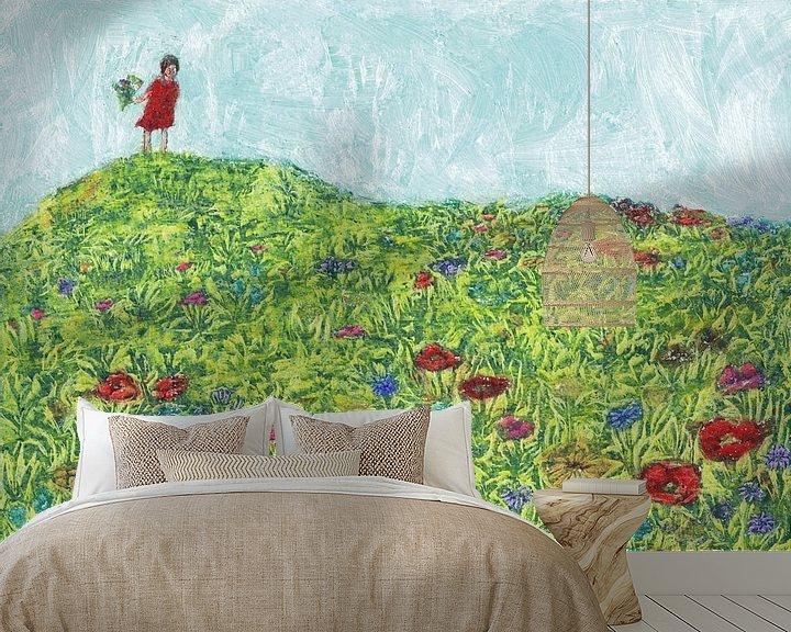 Beispiel fototapete: Blumenwiese von Lise Goossens