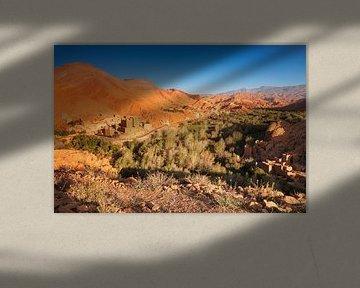 Ait Youl Kasbah bei Sonnenaufgang, Atlasgebirge, Marokko, von Markus Lange
