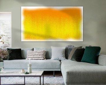 Abstract oranje geel van Maurice Dawson