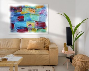 Abstract olieverf van Maurice Dawson